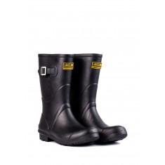 Ladies Black Short Wellington Boots
