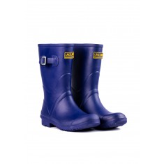 Ladies Navy Short Wellington Boots